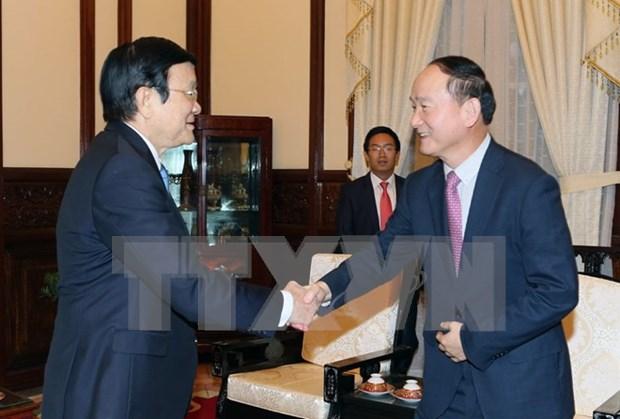 Presidente vietnamita solicita apoyo de Samsung a la industria auxiliar hinh anh 1