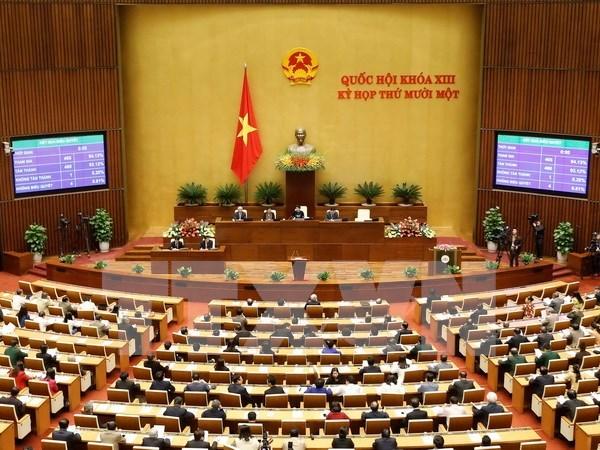 Parlamento revisa la liberacion de cargos a algunos altos funcionarios hinh anh 1