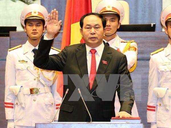 Tran Dai Quang elegido como presidente de Vietnam hinh anh 1