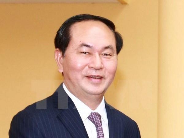 Visita nuevo presidente del pais a provincia de Ninh Binh hinh anh 1