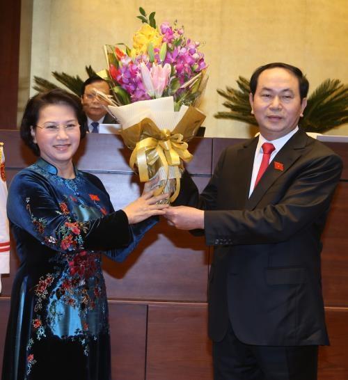 Lideres del mundo felicitan a presidente electo de Vietnam hinh anh 1