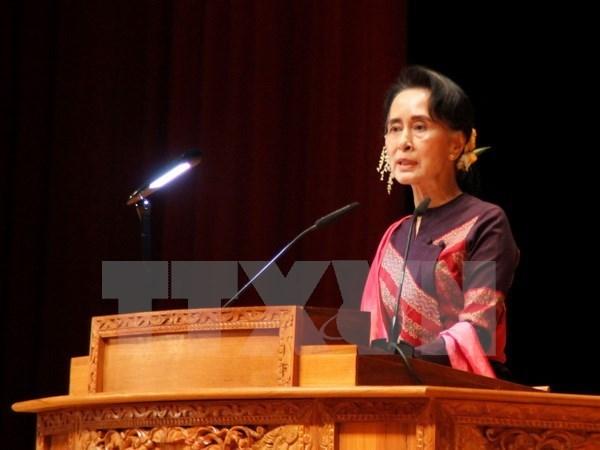Myanmar: Presidente propone el cambio de cargos de Aung San Suu Kyi hinh anh 1