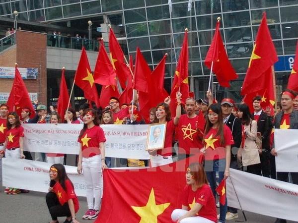 Vietnamitas en Sudcorea protestan acciones ilegales de China en Mar del Este hinh anh 1