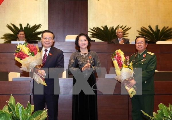 Parlamento vietnamita tiene dos nuevos vicepresidentes hinh anh 1