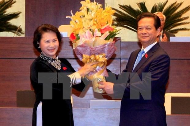 Parlamento aprueba liberacion del cargo al primer ministro Nguyen Tan Dung hinh anh 1