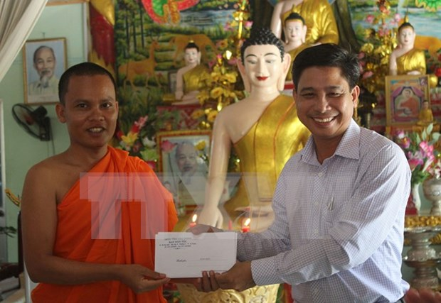 Comunidad de khmer en Vietnam promueve construccion nacional hinh anh 1
