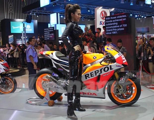 Por primera vez se efectuan exhibicion de motos de Vietnam hinh anh 1