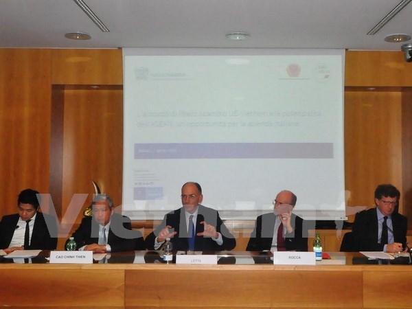 Vietnam: destino atractivo en ASEAN para inversiones italianas hinh anh 1