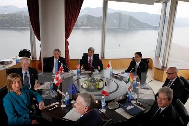 Cancilleres de G7 llaman a mantener seguridad maritima hinh anh 1