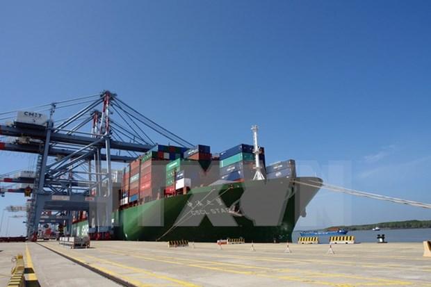 Puerto vietnamita de Cai Mep recibe super carguero hinh anh 1