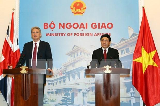 Reino Unido es socio importante de Vietnam, afirma vicepremier vietnamita hinh anh 1