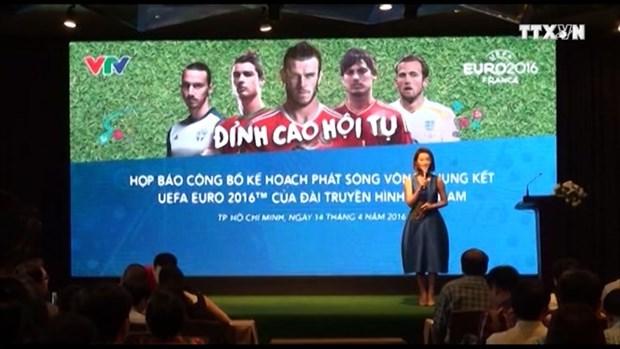 Television vietnamita transmitira todos los partidos de la Eurocopa 2016 hinh anh 1