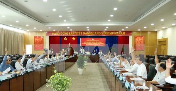 Celebran en localidades vietnamitas conferencia de elecciones legislativas hinh anh 1