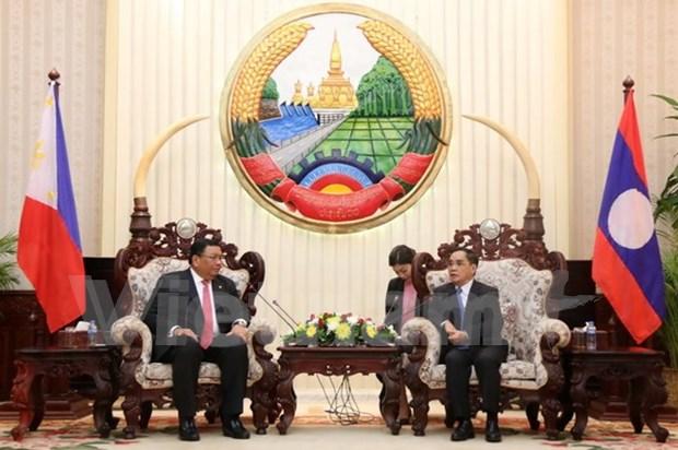 Laos y Filipinas acuerdan intensificar la cooperacion en diversos sectores hinh anh 1