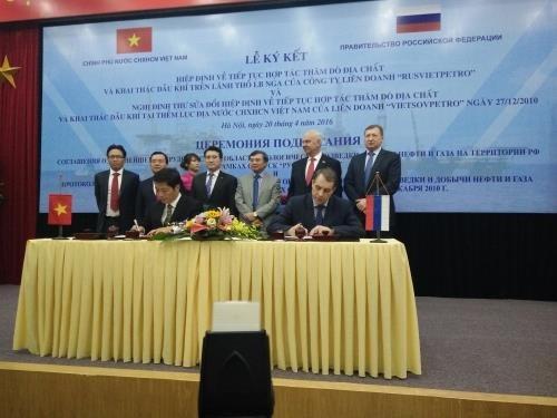 Vietnam y Rusia firman acuerdo en exploracion geologica y explotacion petrolera hinh anh 1