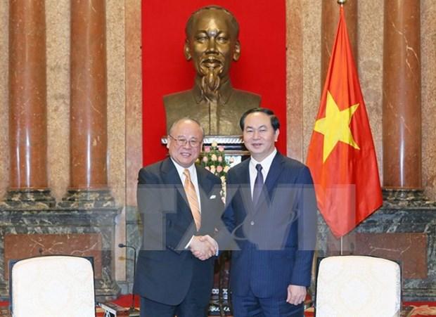 Vietnam prioriza los nexos con Japon en su politica exterior, afirma presidente hinh anh 1