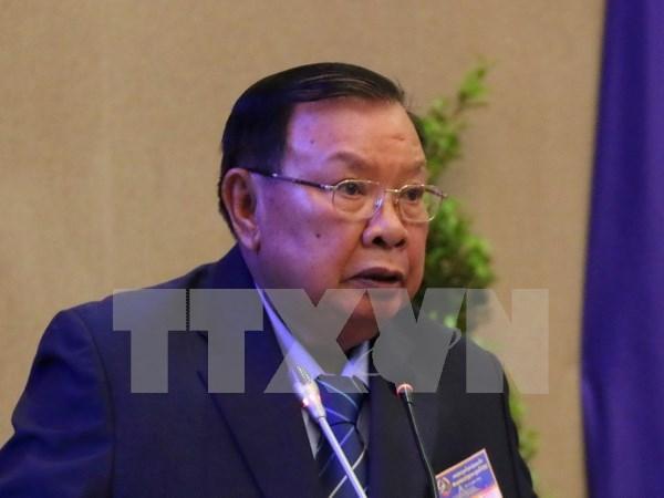 Presidente de Laos visitara Vietnam hinh anh 1