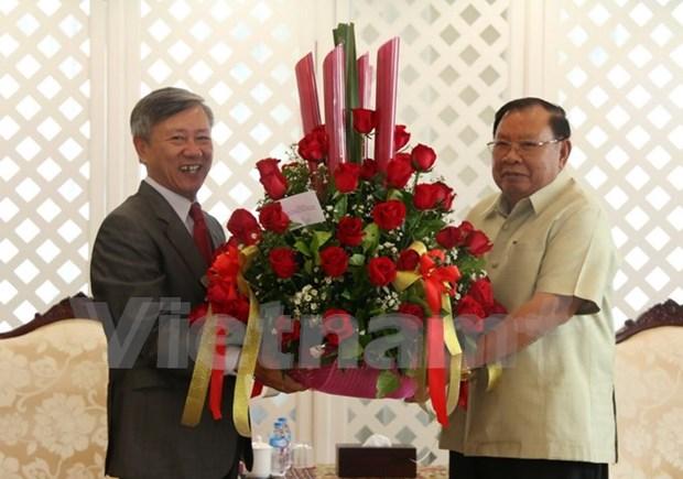 Embajador vietnamita felicita al nuevo presidente de Laos hinh anh 1
