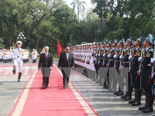 Lideres partidistas de Vietnam y Laos resaltan amistad tradicional bilateral hinh anh 1