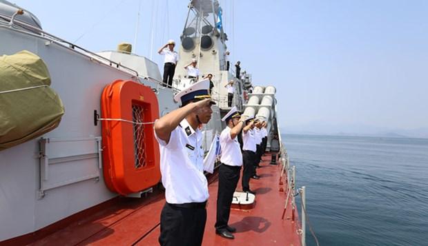 Buque vietnamita participa en ejercicios navales de ADMM+ hinh anh 1