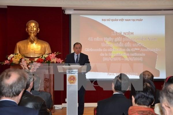 Conmemoran en Francia aniversario 41 de la reunificacion de Vietnam hinh anh 1