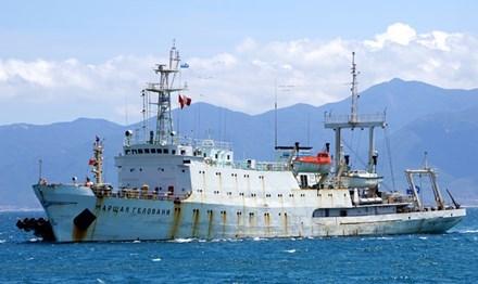 Buque hidrografico ruso ancla en puerto de Cam Ranh hinh anh 1