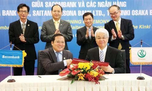 Sacombank coopera con grupo japones en servicios de atencion al cliente hinh anh 1