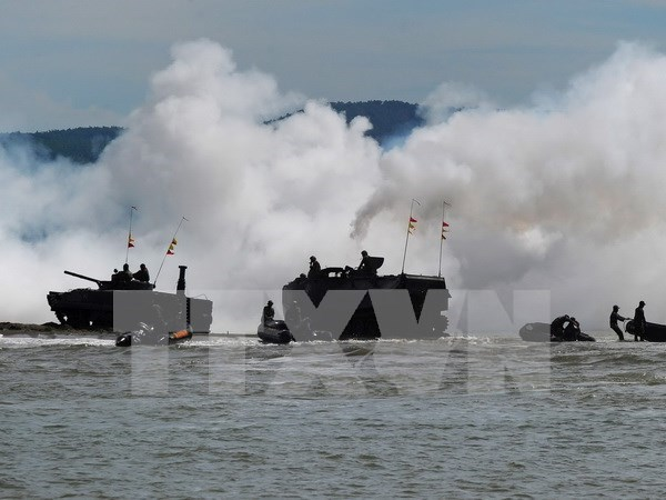 Inauguran en Brunei primera maniobra de seguridad maritima de ADMM+ hinh anh 1