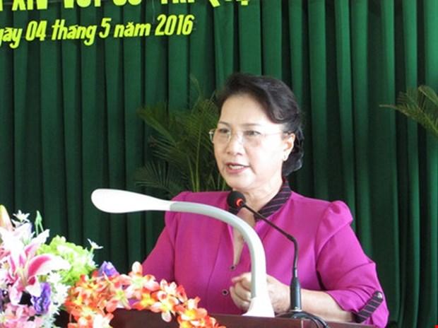Candidatos a Asamblea Nacional de Vietnam en contacto preelectoral con votantes hinh anh 1