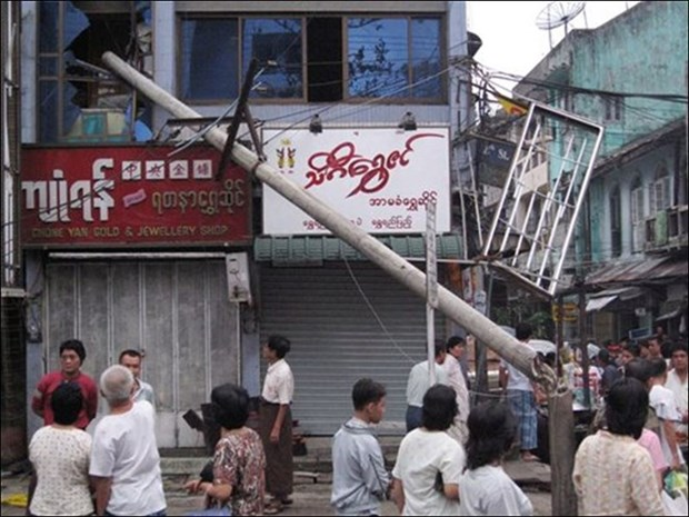 Desastres en Myanmar provocan 18 muertos y 24 heridos hinh anh 1
