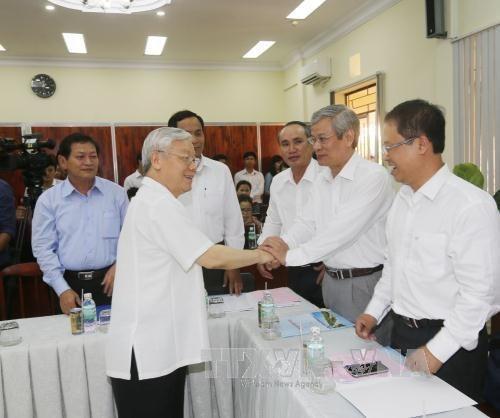 Lider partidista llama a optimizar potencialidades de provincia de Khanh Hoa hinh anh 1