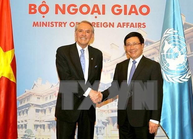 Vicepremier vietnamita agradece a ONU su apoyo a la respuesta a la sequia hinh anh 1