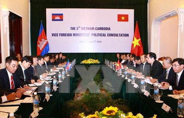Cancillerias de Vietnam y Camboya realizan consulta politica hinh anh 1