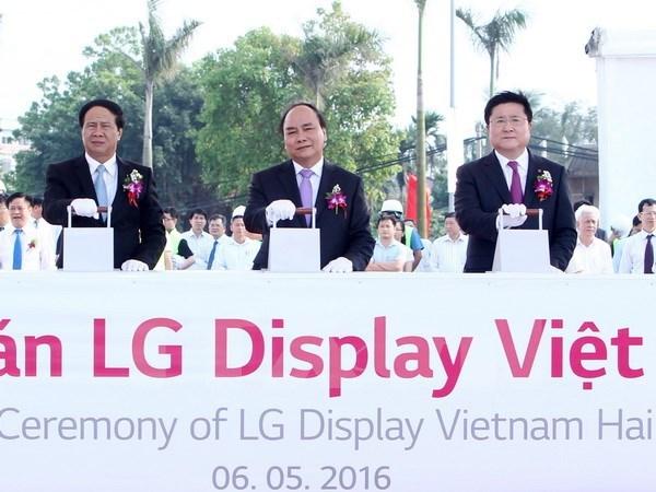 Arranca en ciudad vietnamita construccion de fabrica de pantallas OLED de LG hinh anh 1