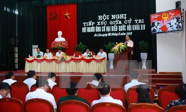 Premier vietnamita dialoga con votantes de Hai Phong hinh anh 1