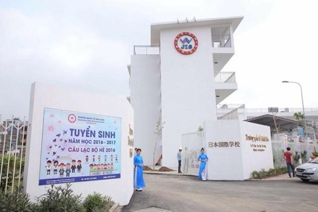 Inauguran en Hanoi Escuela internacional de Japon hinh anh 1