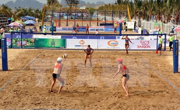 Concluye torneo asiatico de voleibol de playa de Can Tho hinh anh 1