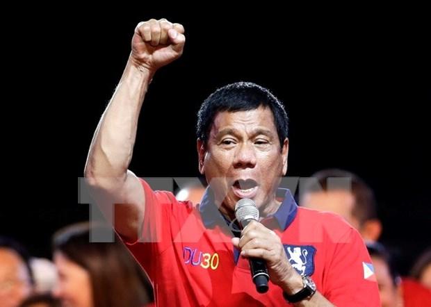 Victoria aplastante de Rodrigo Duterte en elecciones presidenciales de Filipinas hinh anh 1