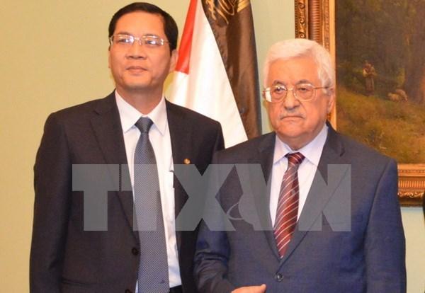 Presidente palestino aboga por fomentar amistad con Vietnam hinh anh 1