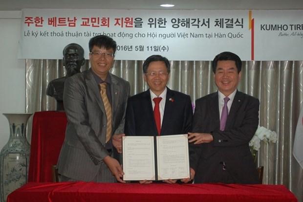 Kumho Tire extiende financiacion para actividades de vietnamitas en Sudcorea hinh anh 1