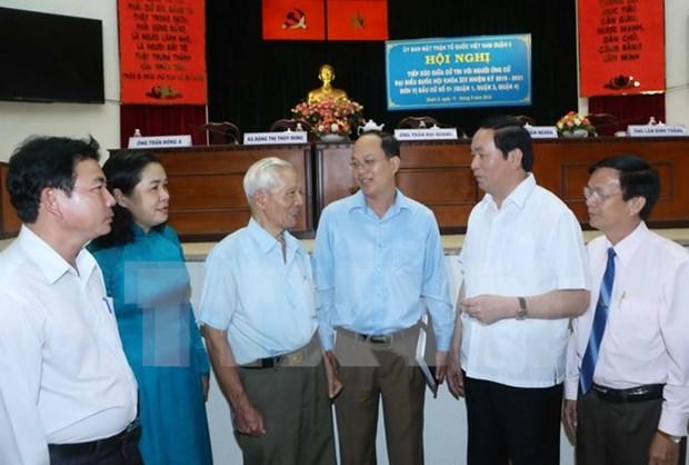 Presidente de Vietnam dialoga con electores en Ciudad Ho Chi Minh hinh anh 1