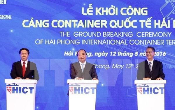 Emprenden construccion de puerto de contenedores Hai Phong hinh anh 1