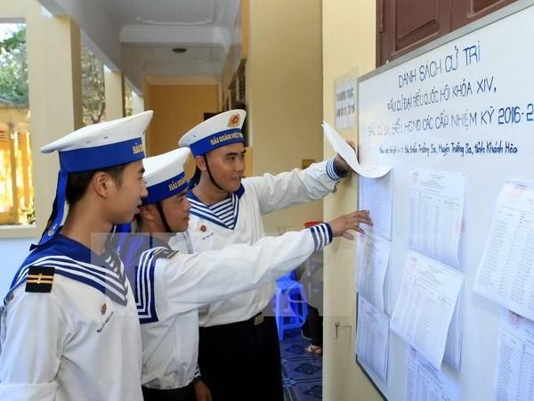 Votantes en Truong Sa muestran expectativas antes dia de elecciones hinh anh 1