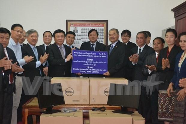 Vietnam y Laos incrementan lazos en formacion de personal para investigacion teorica hinh anh 1