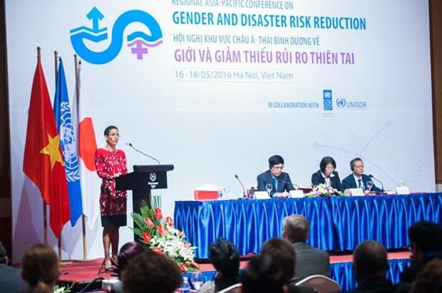 En Vietnam conferencia de genero y reduccion de riesgo de desastres de Asia-Pacifico hinh anh 1