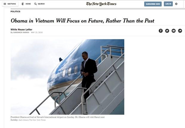 The New York Times publica articulo sobre proxima visita de Obama a Vietnam hinh anh 1