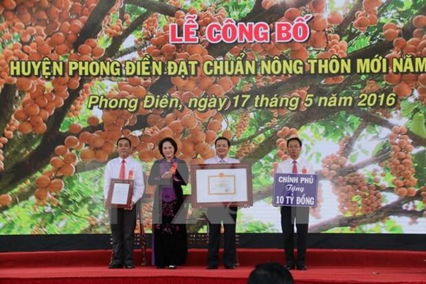 Lider parlamentaria vietnamita elogia construccion de nueva ruralidad en Can Tho hinh anh 1