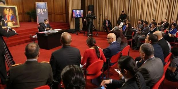 Presidente Maduro denuncia que Venezuela es centro de agresiones de todo tipo hinh anh 1