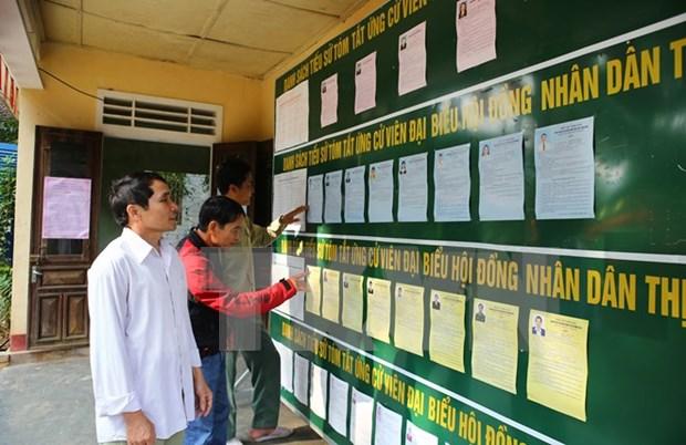 Dispuesto Vietnam para elecciones de Parlamento y Consejos Populares hinh anh 1