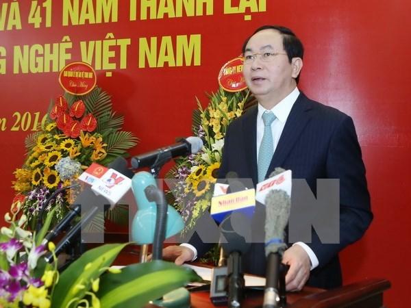 Presidente de Vietnam llama a cientificos a coadyuvar a avance nacional hinh anh 1